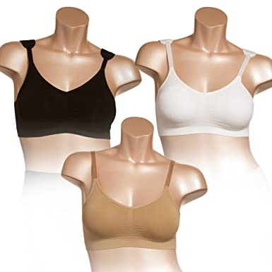 5d9b344ad3fa8 Genie Dream by 6 Pack - 2 Black 2 Nude 2 White (Small) at Amazon ...