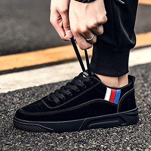 Men's Shoes Feifei Spring and Autumn Fashion Personality Movement Leisure Plate Shoes 3 Colors (Color : Black, Size : EU43/UK9/CN44)