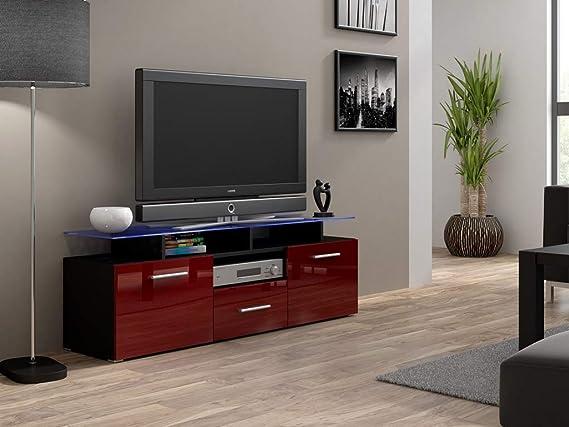 Chloédesign Evori Mini Mueble para televisor, Madera, Noir Et Bordeau, Talla única: Amazon.es: Juguetes y juegos