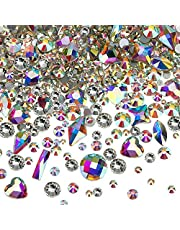 Nail Crystals AB Flat Back Rhinestones Gems Mixed Nail Diamond Stone for Nail Art Clothes Shoes Bags Crafts