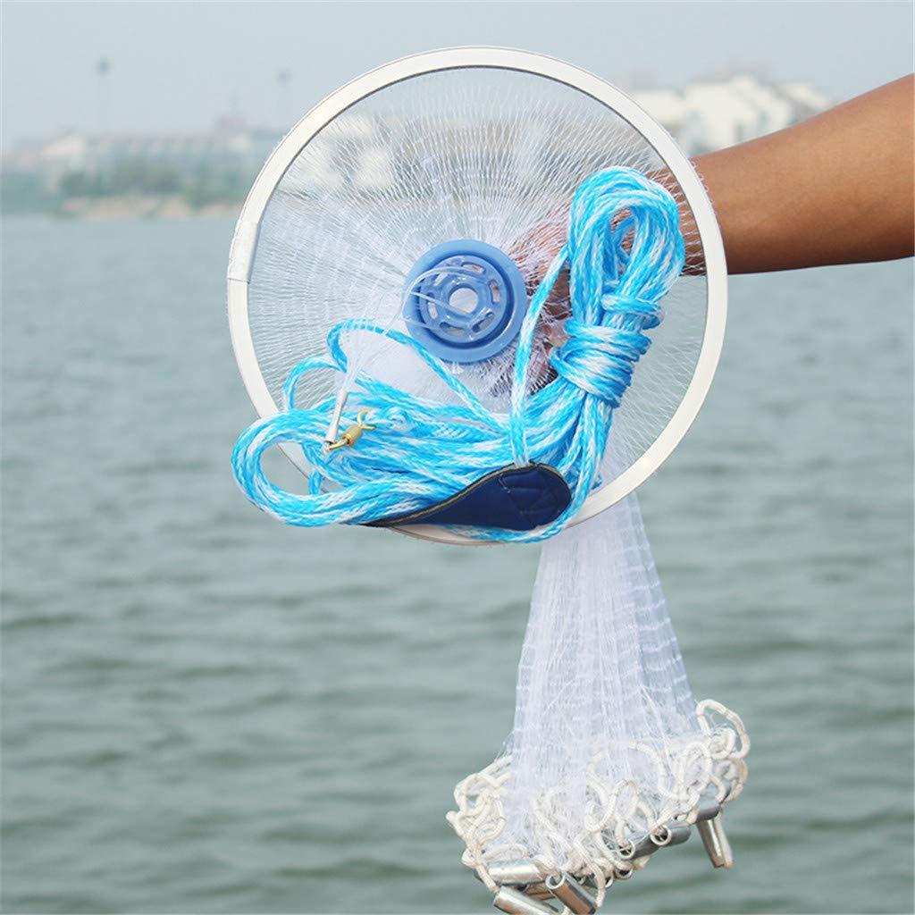 300 Fishing Cast Net Magic Fishing Net Finefish Aluminum Ring American Catch Fish Network for Bait Trap Fish