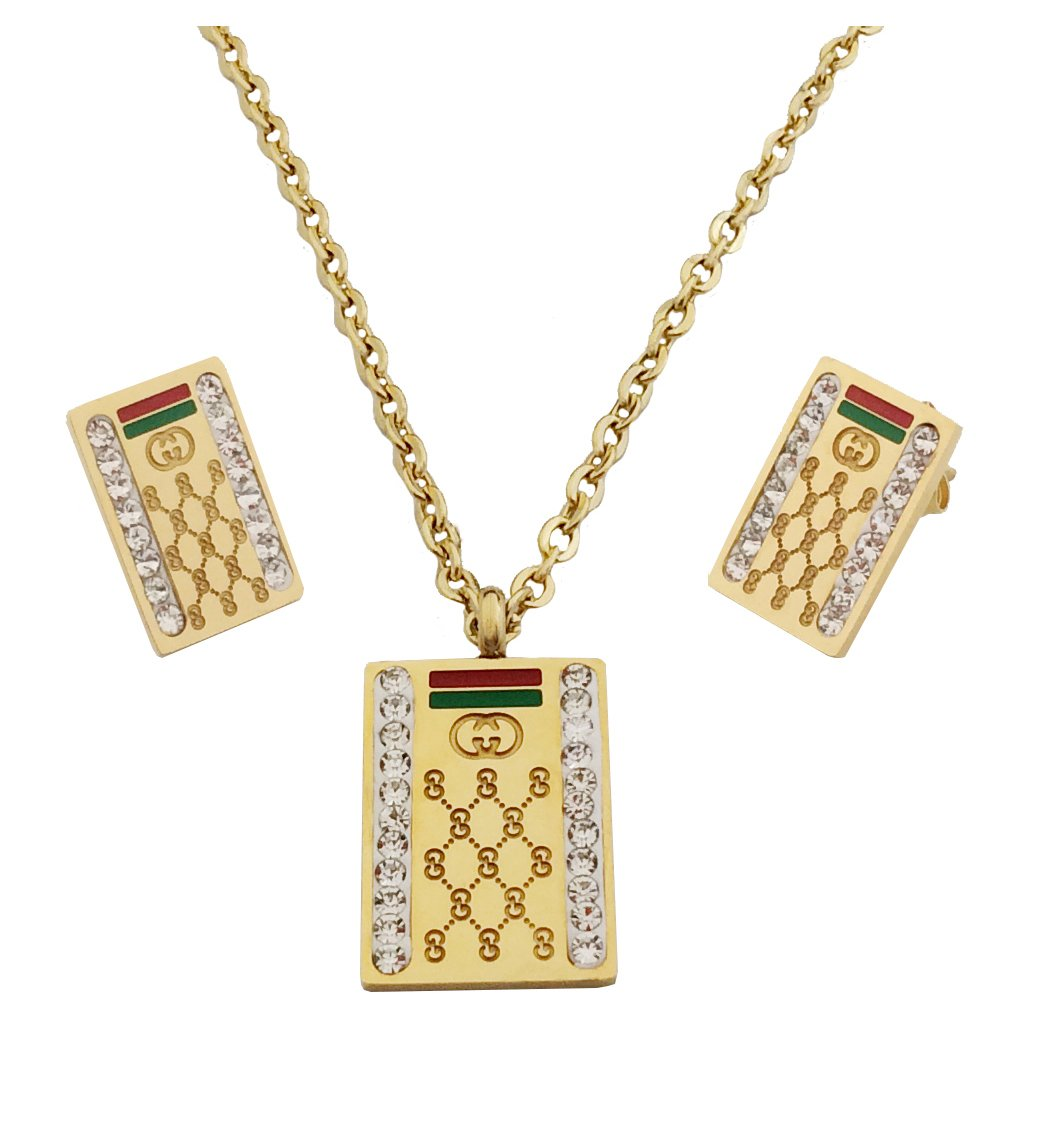 PAPAGALO Stainless Steel Jewelry Set for Women (PP204)