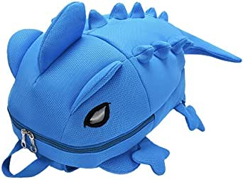 Creative cartoon backpack, black backpack, dinosaur bag, dinosaur backpack