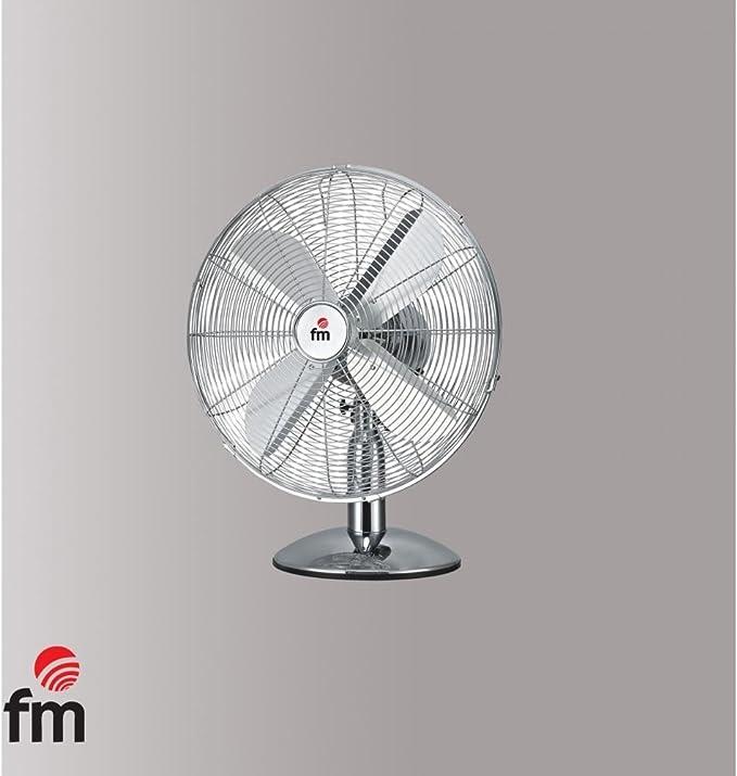 fm - Ventilador Cromado de Sobremesa: Amazon.es: Hogar