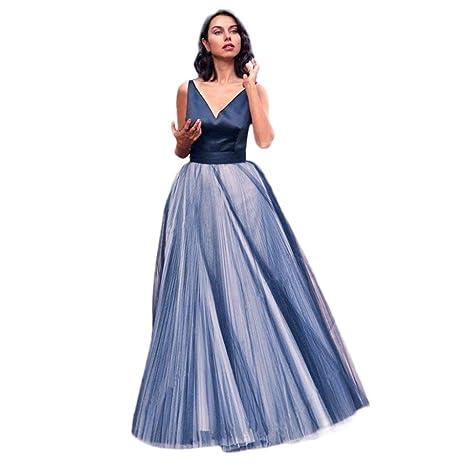 Vestidos Mujer Verano 2018,Mujeres formales PROM largo Skirl noche fiesta larga Maxi falda encaje blusa conjunto LMMVP (Armada, XL): Amazon.es: Hogar