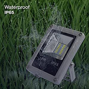 eTopLighting Outdoor 10W 12V LED Flood Light 100W Halogen Equivalent, Waterproof IP65, 30,000 Life Hours, Daylight White 5500K, APL1498