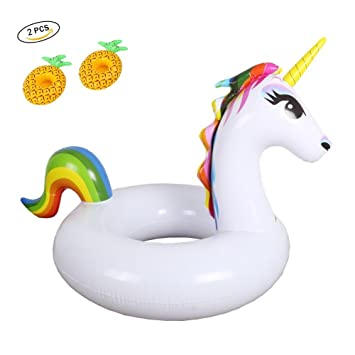 Wanxing flotador gigante unicornio cojín hinchable flotante Piscina, colchón hinchable piscina, bootskiste unicornio niño