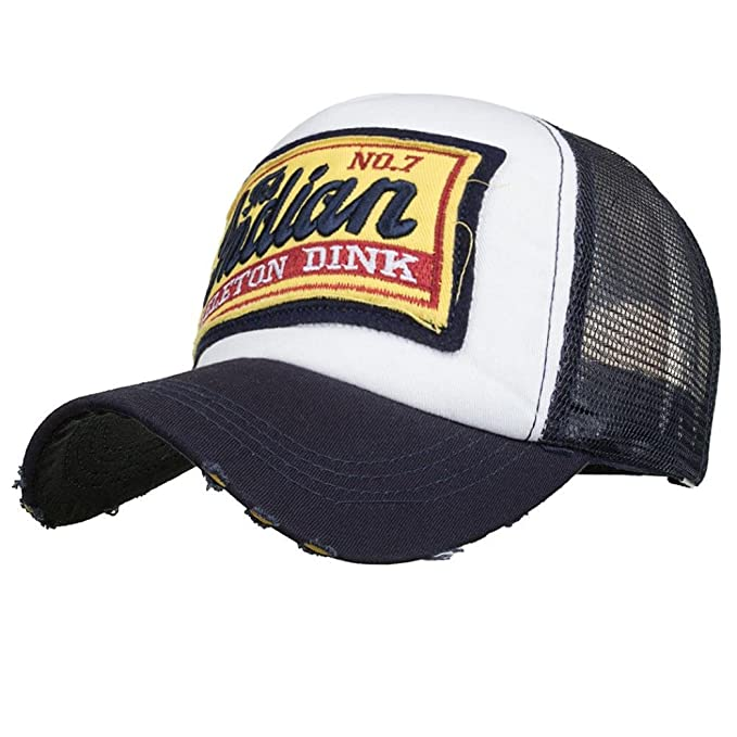 Rovinci Unisex Bordado Gorra de Verano Sombreros de Malla para Hombres Mujeres Sombreros Casuales Hip Hop Gorras de béisbol (Armada): Amazon.es: Ropa y ...