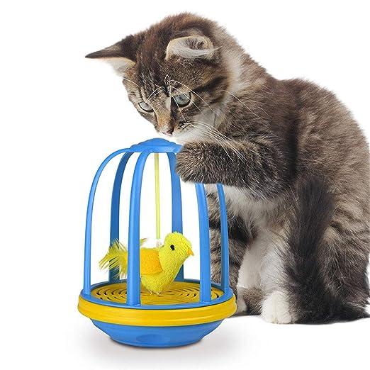 Juguete interactivo del gato, Juguete del pájaro de la jaula ...