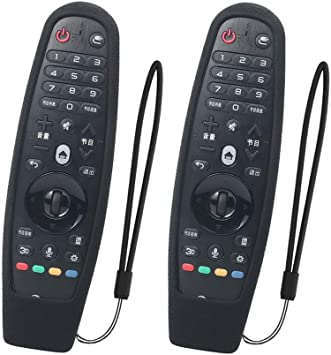SIKAI 2-Pack Funda Protectora Compatible con LG Smart TV Mando a Distancia AN-MR600 / AN-MR650 / AN-MR650A / AN-MR18BA Magic Remote Carcasa de Silicona Resistente a Prueba de Golpes (Nero): Amazon.es: Electrónica