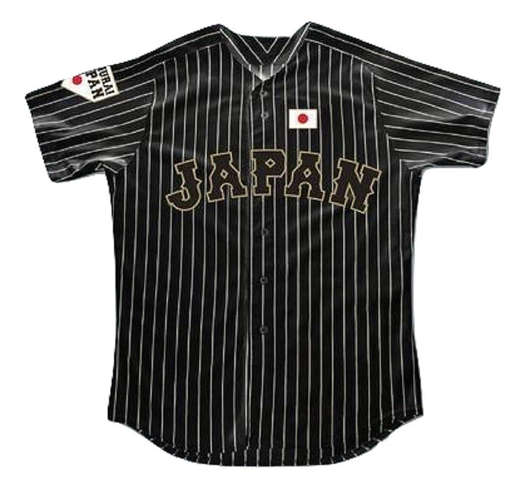 new concept 4d70c 8ca5c borizcustoms Shohei Ohtani 16 Japan Samurai Black Pinstriped Baseball  Jersey Stitch Novelty Item