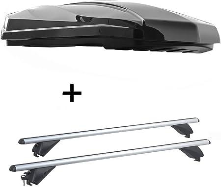 Vdp Dachbox Strike 440 Liter Schwarz Hochglanz Alu Dachträger Rb003 Kompatibel Mit Jaguar E Pace 5türer Ab 2017 Auto