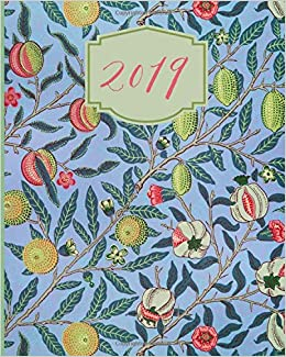 2019: Weekly Planner, Blue, Pomegranate, Pattern, Floral ...