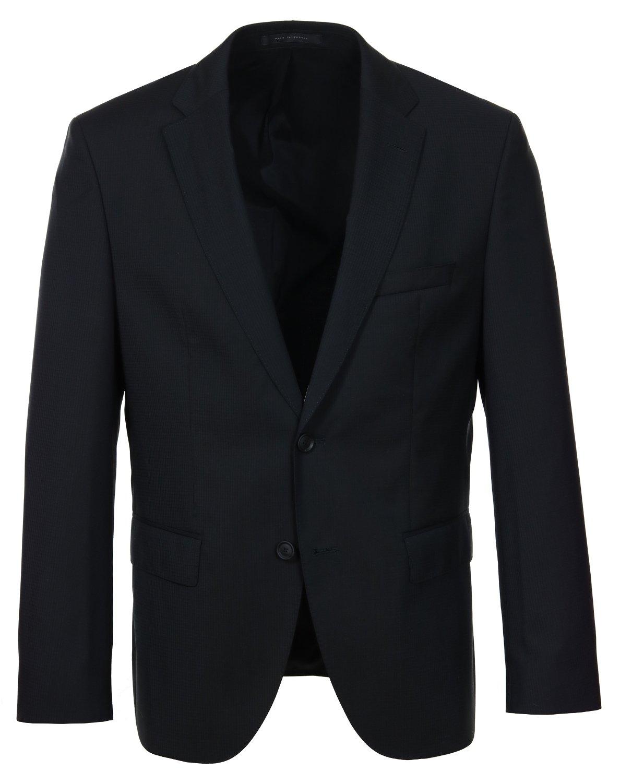 Hugo Boss Jets/Lenon Trim Fit Black Travel Suit - 44L