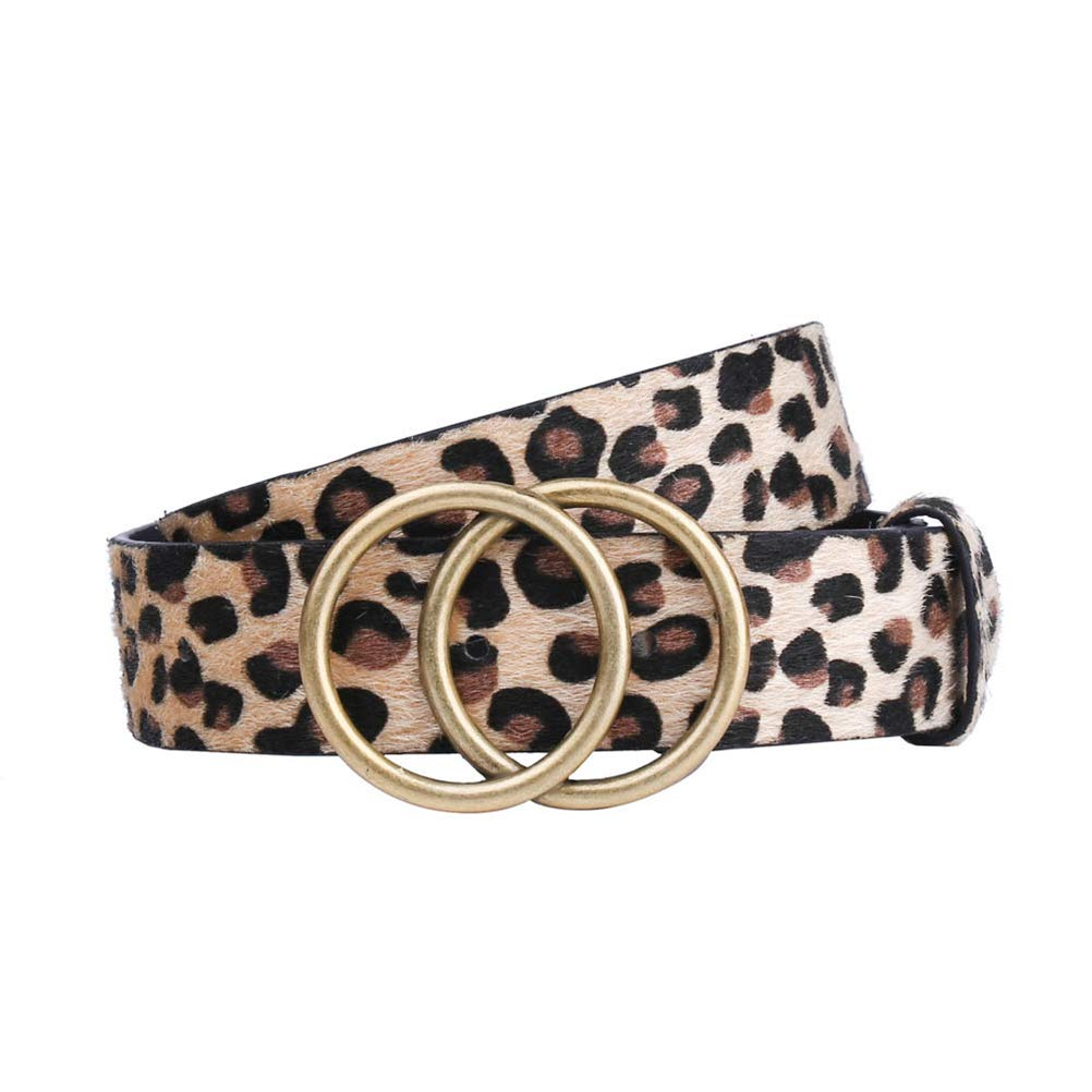 Qeedio Cintura da Donna Cintura in Pelle PU da Donna Rotondo Cinghie morbide Cintura Semplice Cintura per Jeans Pantaloni Abito