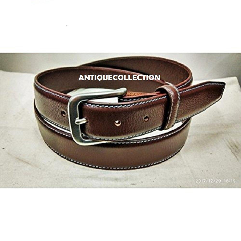 Men Stylish Leather Belt Casual Jeans Brown Belt