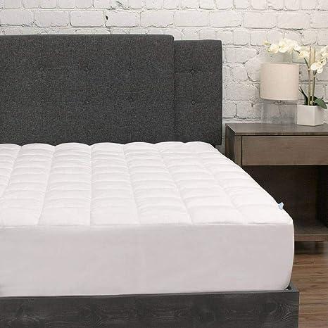 eluxurysupply pillowtop mattress pad w deep pocket fitted skirt premium microfiber mattress cover down alternative topper bed protection full
