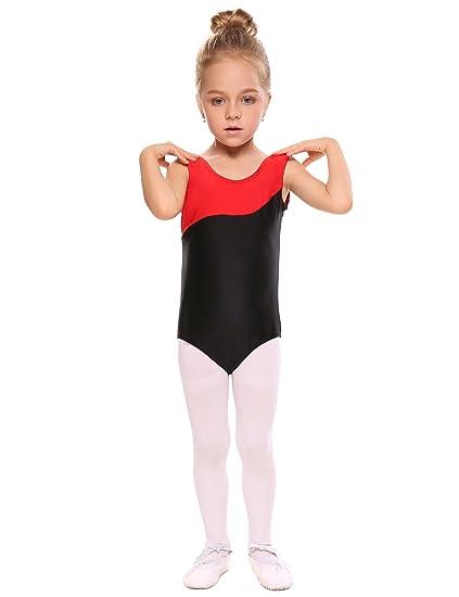 2a6b07cc8 Arshiner Girl s Leopard Sleeveless Camisole Dance Gymnastics Leotard ...