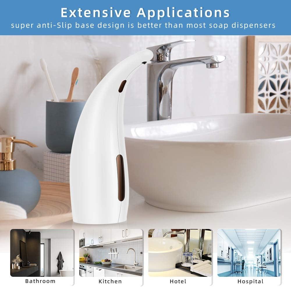 300ML Touchless Sensore a Infrarossi Dispenser di Sapone Impermeabile per Cucina Bagno e WC Nbrand Distributore di Sapone Automatico