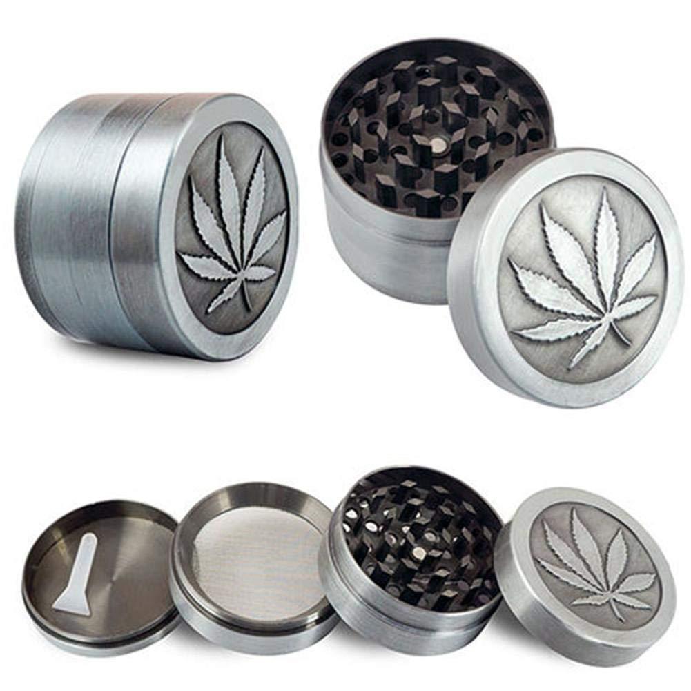 Metal Trituradora de Tabaco Humo de Mano Herbal Herb Grinder Mini 4 Capas Molinillos port/átiles Tamiz Househome Trituradora de Tabaco