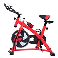 MuGuang Bicicleta estática Indoor cycling Bicicleta Spinning Cardio Workout, Direct Belt Driven, Manillar y