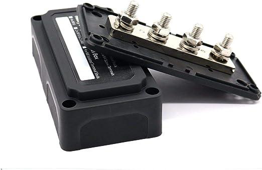 12V 100A 4-Wege-Stromverteilerschiene Reihenklemme Elektrische Stromschiene
