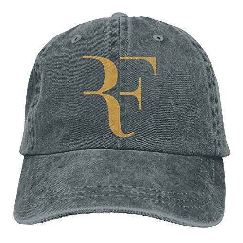 Katie P. Hunt Roger Federer Adult Hats Unisex Fashion Plain Cool Adjustable Denim Jeans Baseball Cap Cowboy