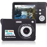 "Digital Camera, Lyyes 2.7"" Mini Camera HD 720P Digital Point Shoot Camera Camcorder 8X Zoom Camera for Kids and Gifts (Black)"