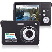 "Digital Camera, Lyyes 2.7"" Mini Camera HD 720P Digital Point Shoot Camera 8X Zoom Camera for Kids and Gifts (Black)"