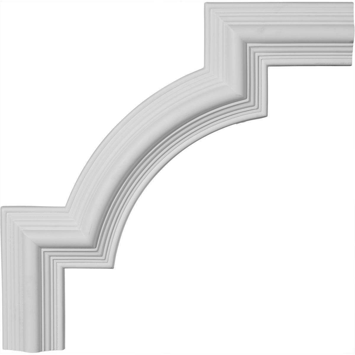 15 1//8-Inch x 15 1//8-Inch Ekena Millwork PML15X15BE Bedford Panel Molding Corner