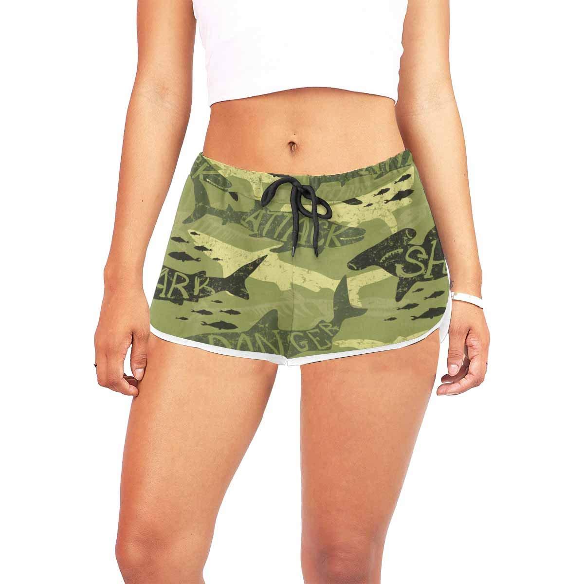 InterestPrint Novelty Design Womens Shorts Running Workout Athletic Beach Shorts
