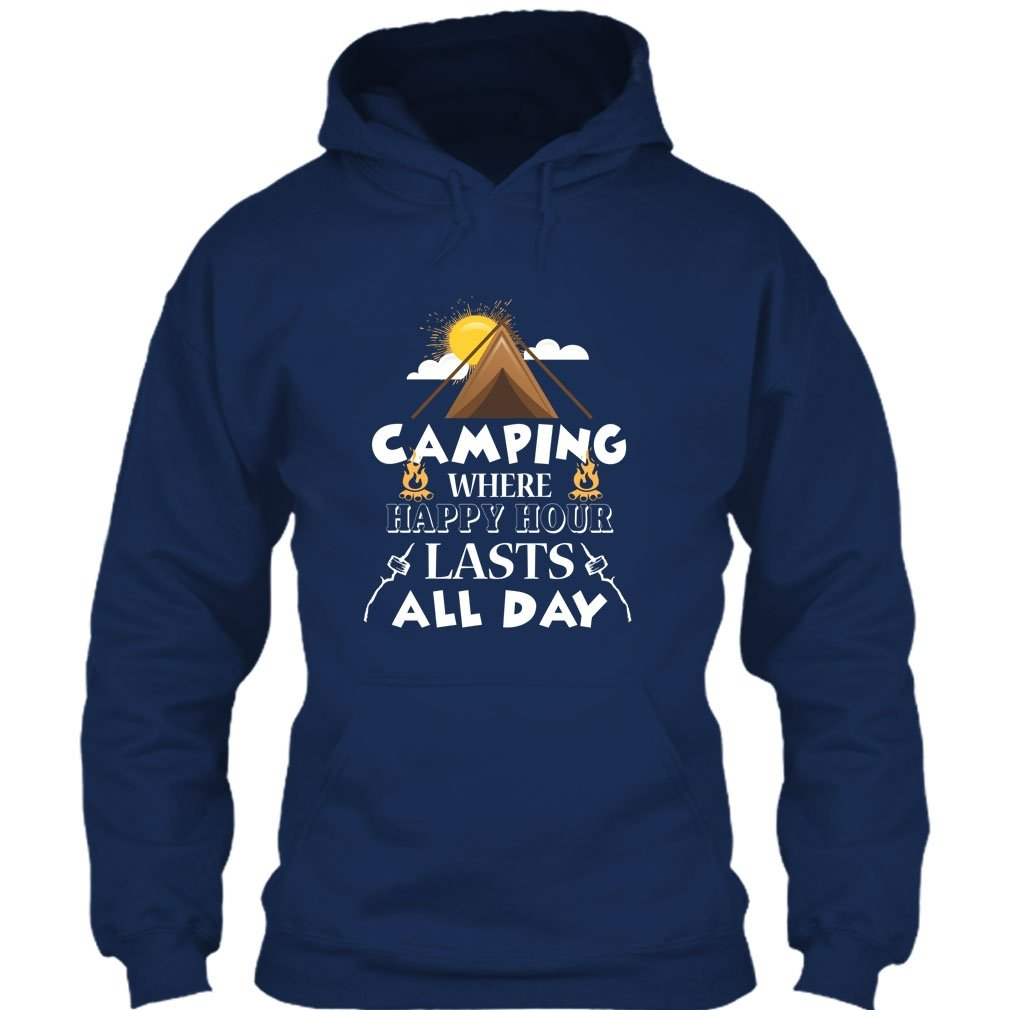 I Love Camping T Shirt Camping Where Happy Hour Lasts All Day T Shirt