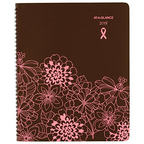 "AT-A-GLANCE Monthly Planner, January 2018 - December 2018, 8-1/2"" x 11"", Sorbet, Brown / Pink (794-900)"