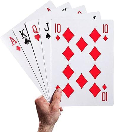 Juguetes para niños Magic Huge Poker Cartas de juego gigantes Tarjetas de póquer divertidas creativas para juegos familiares en interiores y al aire libre Juegue a fiestas de amigos, picnics y barbaco: