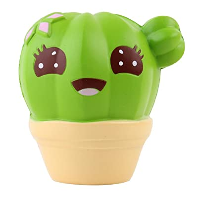 Pratcgoods Squishies Cactus Scented Jumbo Slow Rising Kawaii Plant Squishies Stress Relief Toy for Collection Gift Extrusion Toy Kids Toy: Toys & Games