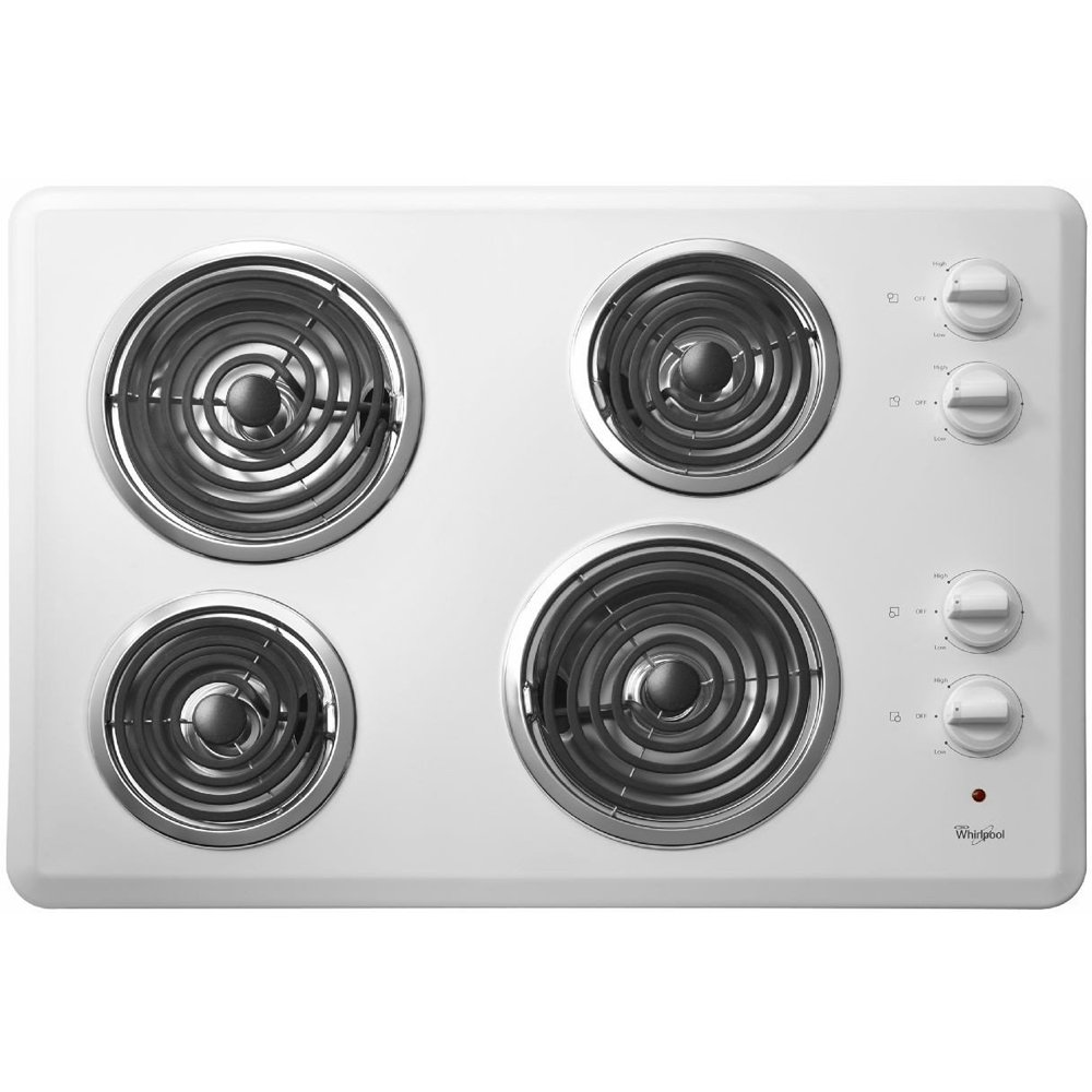 """WHIRLPOOL RANGES, OVENS & COOKTOPS 1029845 White, 3.25 X 30 X 21"""" Built-In Cooktop"""