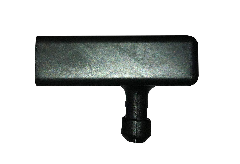 Soportes para listones de cama de barras laterales,pack de 10 unidades, metal, negro, 63 mm BISHOPS BEDS LTD SF