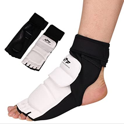Wonzone Taekwondo Training Boxing Foot Gear Martial Arts Protector Sparring  Gear Muay Thai Kung Fu Tae Kwon Do Feet Protector TKD Foot Gear Support