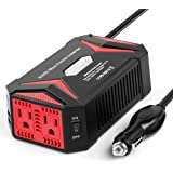 BESTEK Pure Sine Wave 300W Power Inverter DC 12V to AC 110V with 4.2A Dual Smart USB Ports Car Adapter (Upgraded Version)