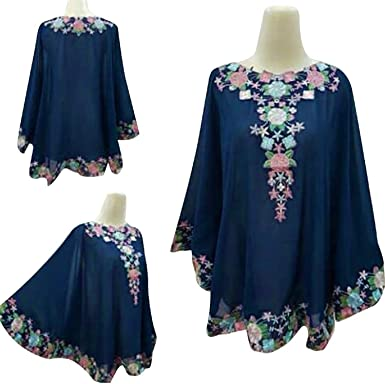 a479f1153cf Kaftan Boho Top Long Tunic Knit Dress Blouse T Shirt Mini Batwing (Black  (Style