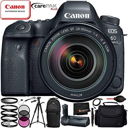 Canon EOS 6D Mark II with EF 24-105mm f/4L IS II USM Lens – 11PC Accessory Bundle Includes 3 Piece Filter Kit (UV, CPL, FLD) + 4 Piece Macro Filter Set (+1, +2, +4, +10) + Lens Cap Keeper + MORE Review