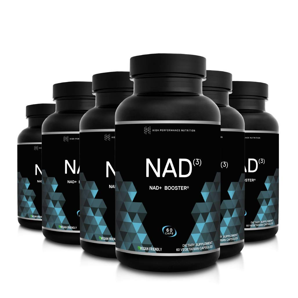 HPN NAD+ Booster - Nicotinamide Riboside Alternative (NAD3) for Men & Women | Anti Aging NRF2 Activator, Superior to NADH - Natural Energy Supplement for Longevity & Cellular Health, 60 Caps, 6-Pack