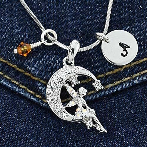 Sparkling Crystal Block Ring Chandelier: Amazon.com: Tinkerbell Fairy On Moon Custom Pendant