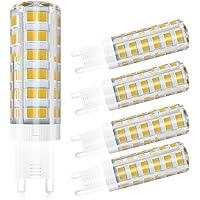 5 Pack LCLEBM G9 LED Bulbs, 60W G9 LED Light Bulbs, 550LM white 4500K, AC 110V 120V 5W G9 ceramic base, 360-degree beam…