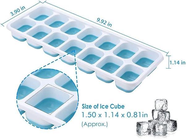 24 fentes fabricant de glaçons pour congélation flexible plateau en silicone
