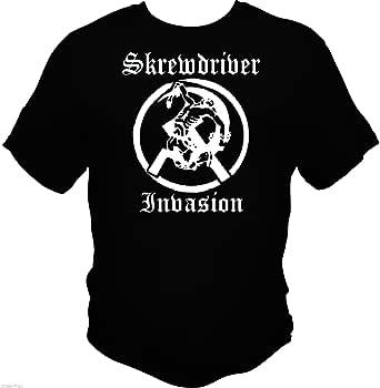 Skrewdriver Invasion R.A.C. Short-Sleeved Black USA ...