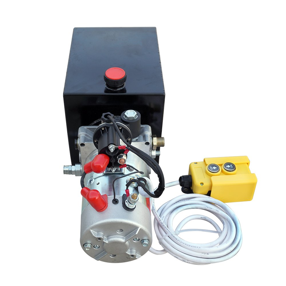 High Quality Single Acting Hydraulic Pump Metal Reservoir Electric Hydraulic Pump Unit for Dump Trailer (Single Acting 8L)