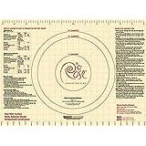 Rose Levy Beranbaum Signature Series MD006 Roses Magic Dough Pastry Mat, Cream