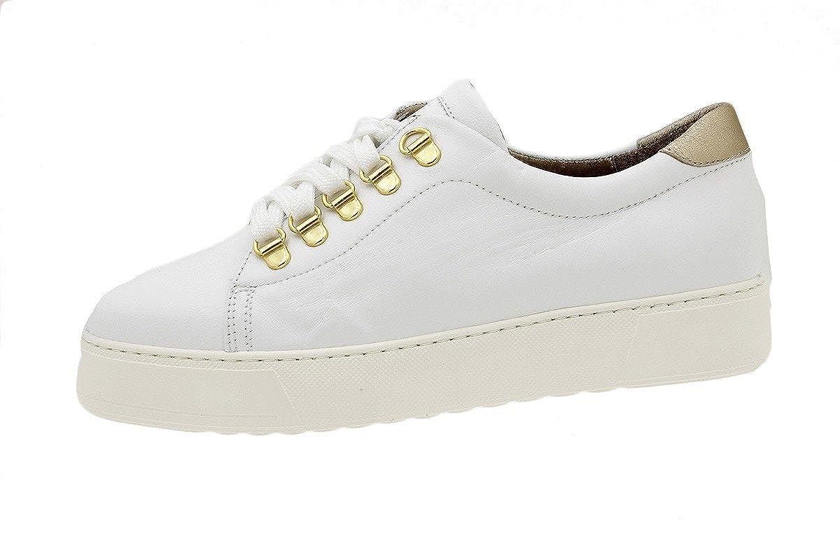 PieSanto Sneaker 180740 Komfort Damenlederschuh Natur Blanco