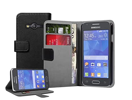 f50054a4212 Membrane - Black Wallet Book-Style Case compatible with Samsung Galaxy Ace 4  (SM
